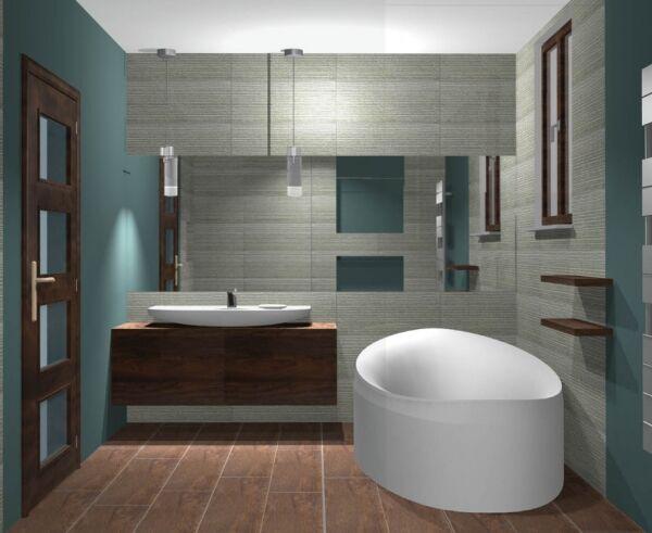 projekt łazienki, Kęty